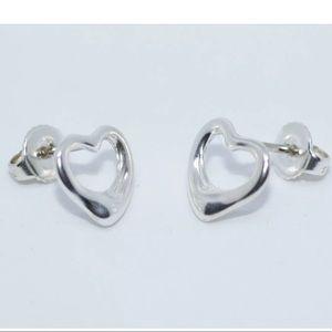 Tiffany & co Silver heart shape earrings